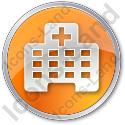 Hospital Facility Circle Orange Icon