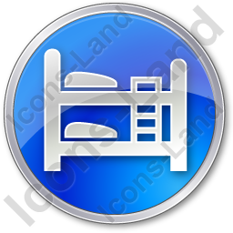 Hostel Circle Blue Icon, PNG/ICO, 256x256