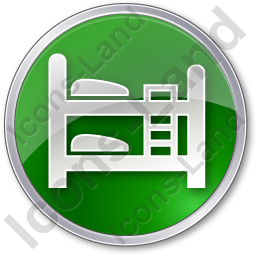 Hostel Circle Green Icon