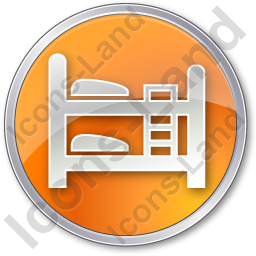 Hostel Circle Orange Icon