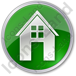 House Circle Green Icon