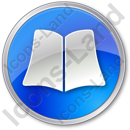 Library Book Circle Blue Icon