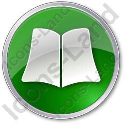 Library Book Circle Green Icon