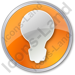 Light Circle Orange Icon, PNG/ICO, 256x256