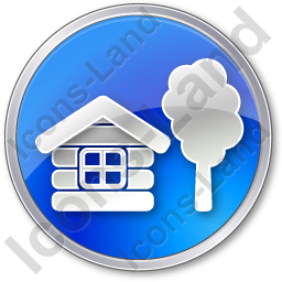 Lodge Circle Blue Icon, PNG/ICO, 256x256