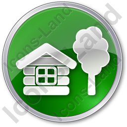 Lodge Circle Green Icon