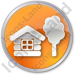 Lodge Circle Orange Icon, PNG/ICO, 256x256
