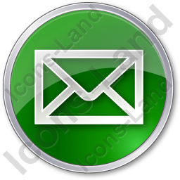Mail Envelope Circle Green Icon, PNG/ICO, 256x256