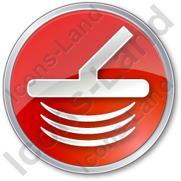 Metal Detector Circle Red Icon