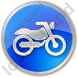 Motorcycle Circle Blue Icon, PNG/ICO, 256x256