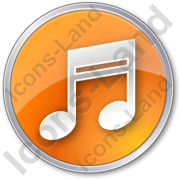 Music Circle Orange Icon, PNG/ICO, 256x256