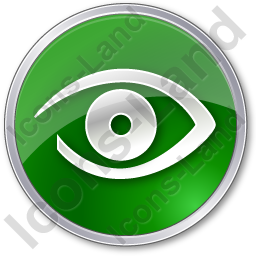 Observation Circle Green Icon