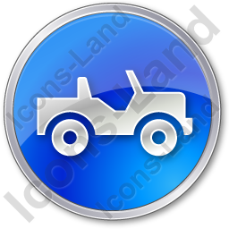 Off Road Vehicle Circle Blue Icon, PNG/ICO, 256x256