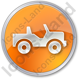 Off Road Vehicle Circle Orange Icon