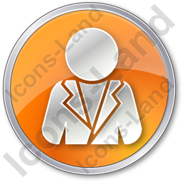 Official Circle Orange Icon