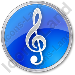 Orchestra Circle Blue Icon