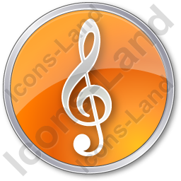 Orchestra Circle Orange Icon, PNG/ICO, 256x256