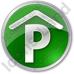 Parking P Covered Circle Green Icon