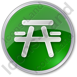 Picnic Ground Circle Green Icon