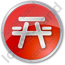 Picnic Ground Circle Red Icon