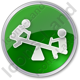 Playground Kids Circle Green Icon