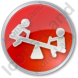 Playground Kids Circle Red Icon, PNG/ICO, 256x256