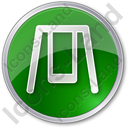 Playground Swing Circle Green Icon