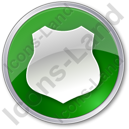 Police Badge Circle Green Icon