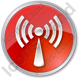 Radio Circle Red Icon, PNG/ICO, 256x256