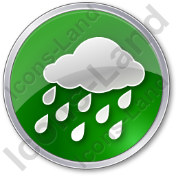 Rain Circle Green Icon, PNG/ICO, 256x256