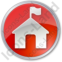 Ranger Station Circle Red Icon, PNG/ICO, 256x256