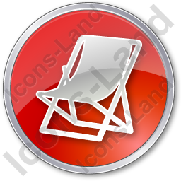 Resort Circle Red Icon