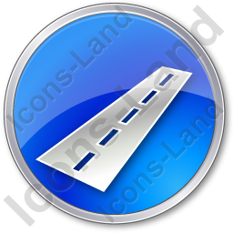 Road Circle Blue Icon