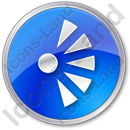 Scenic View Point Circle Blue Icon
