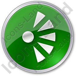 Scenic View Point Circle Green Icon