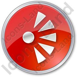 Scenic View Point Circle Red Icon