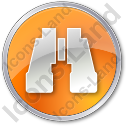 Search Circle Orange Icon