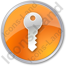 Security Circle Orange Icon, PNG/ICO, 256x256