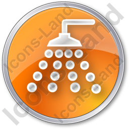 Shower Circle Orange Icon