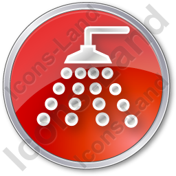 Shower Circle Red Icon