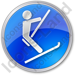 Ski Lift Surface Lift Circle Blue Icon