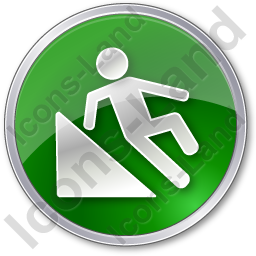 Slippery Ramp Circle Green Icon