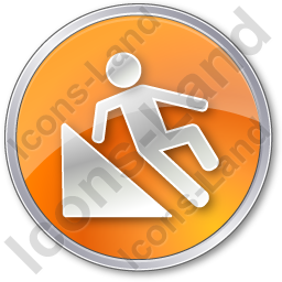 Slippery Ramp Circle Orange Icon