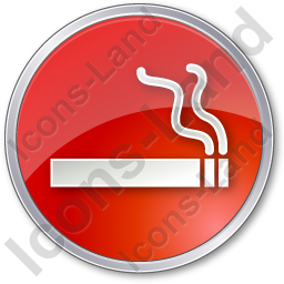 Smoking Circle Red Icon