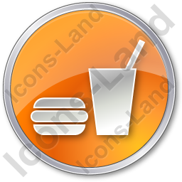 SnackBar Circle Orange Icon, PNG/ICO, 256x256