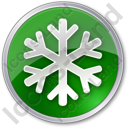 Snow Circle Green Icon