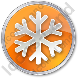 Snow Circle Orange Icon, PNG/ICO, 256x256