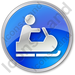 Snowmobiling Circle Blue Icon, PNG/ICO, 256x256