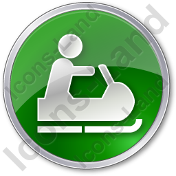 Snowmobiling Circle Green Icon, PNG/ICO, 256x256