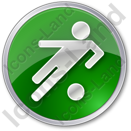 Soccer Circle Green Icon, PNG/ICO, 256x256